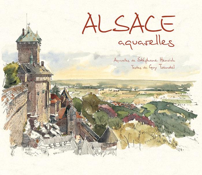 couverture de Alsace aquarelles