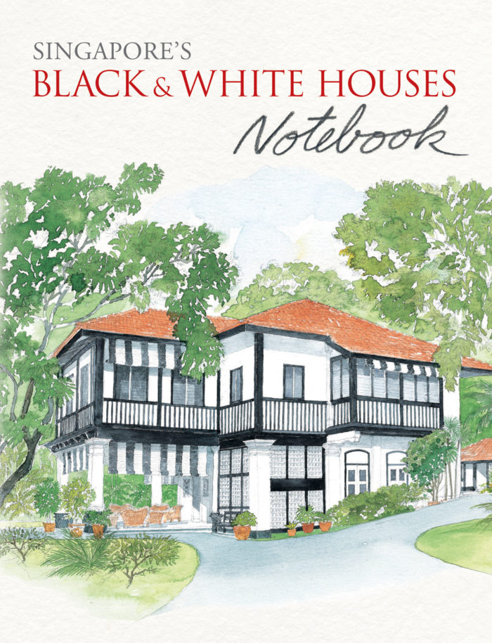 couverture de Singapore's Black and White Houses Notebook