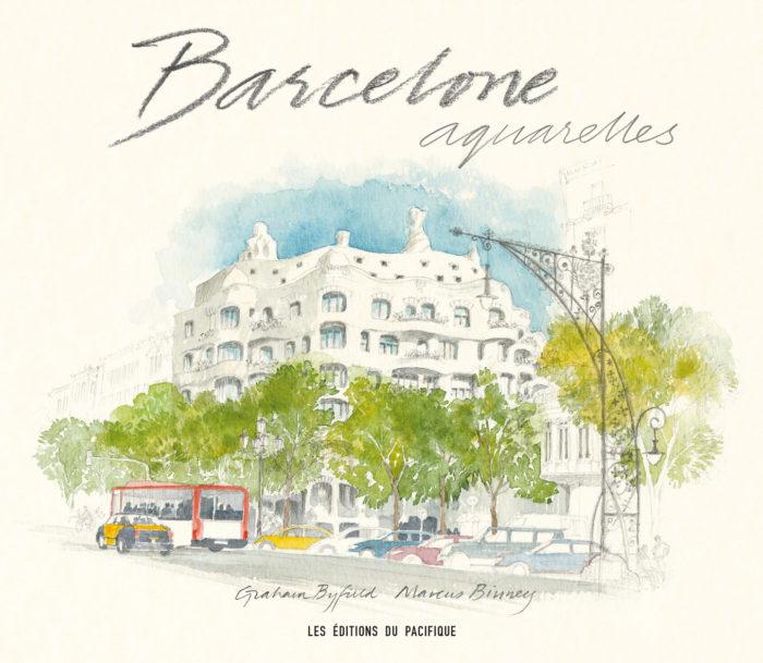 couverture de Barcelone aquarelles