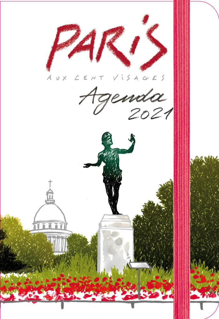 couverture de Agenda Paris aux cent visages 2021