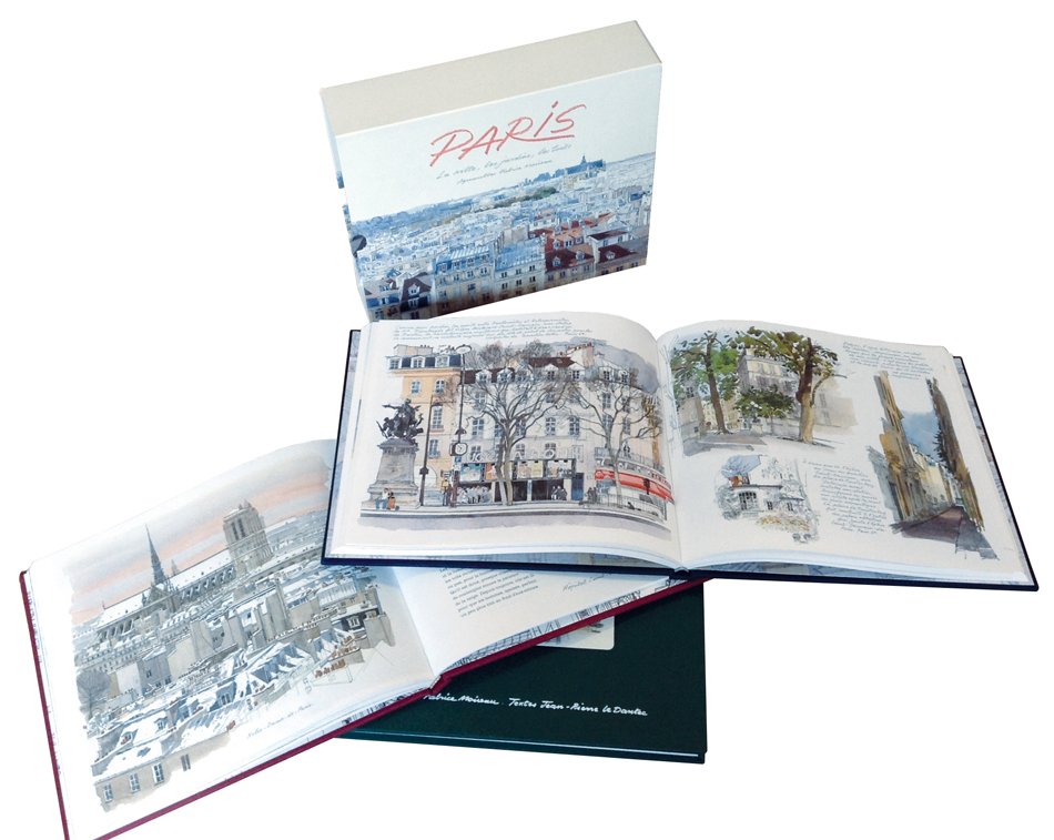 Coffret Paris aquarelles