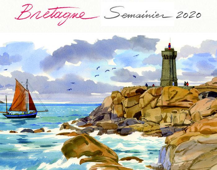 couverture de Semainier Bretagne 2020