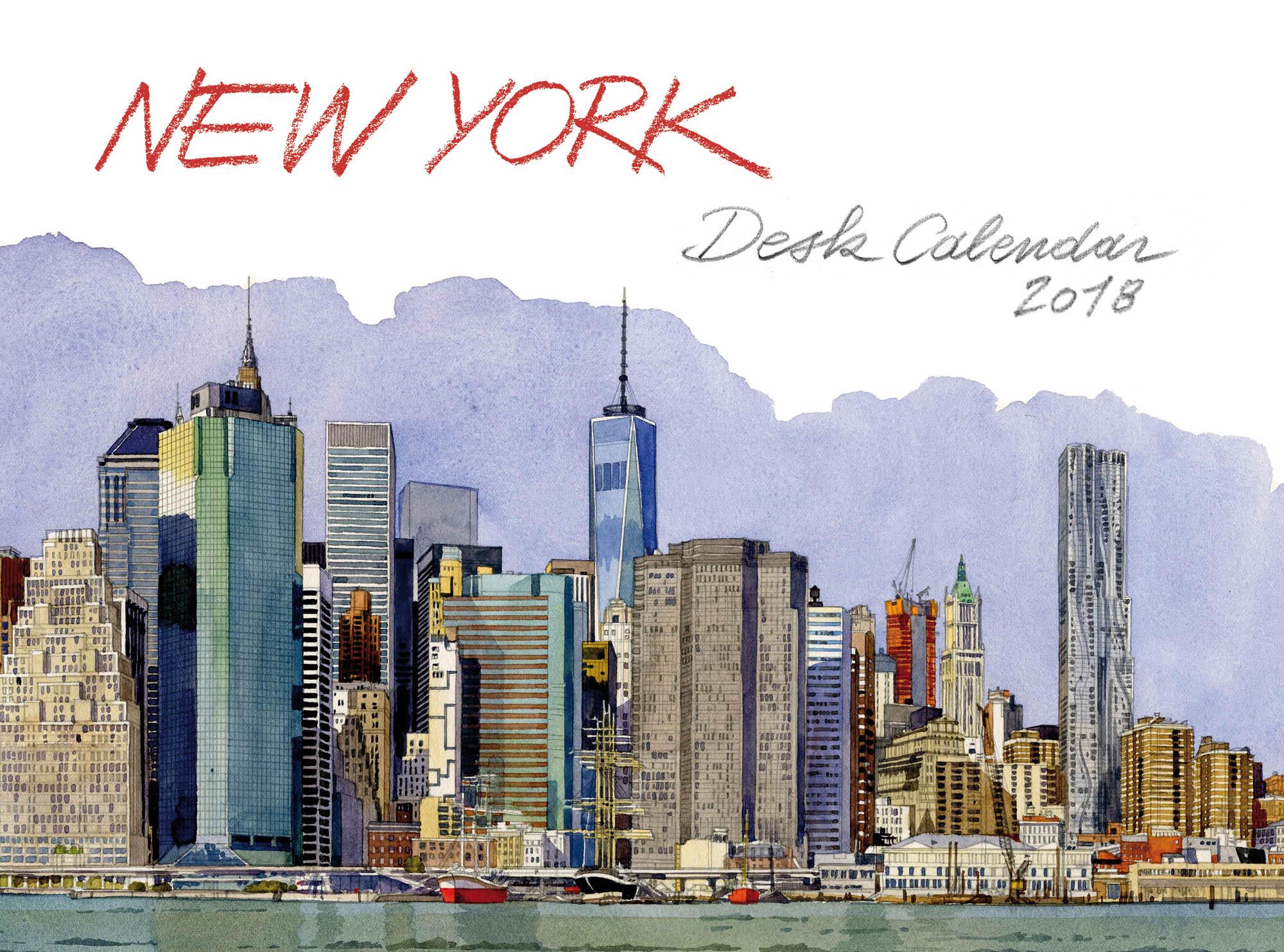 new york desk calendar 2018 les editions du pacifique