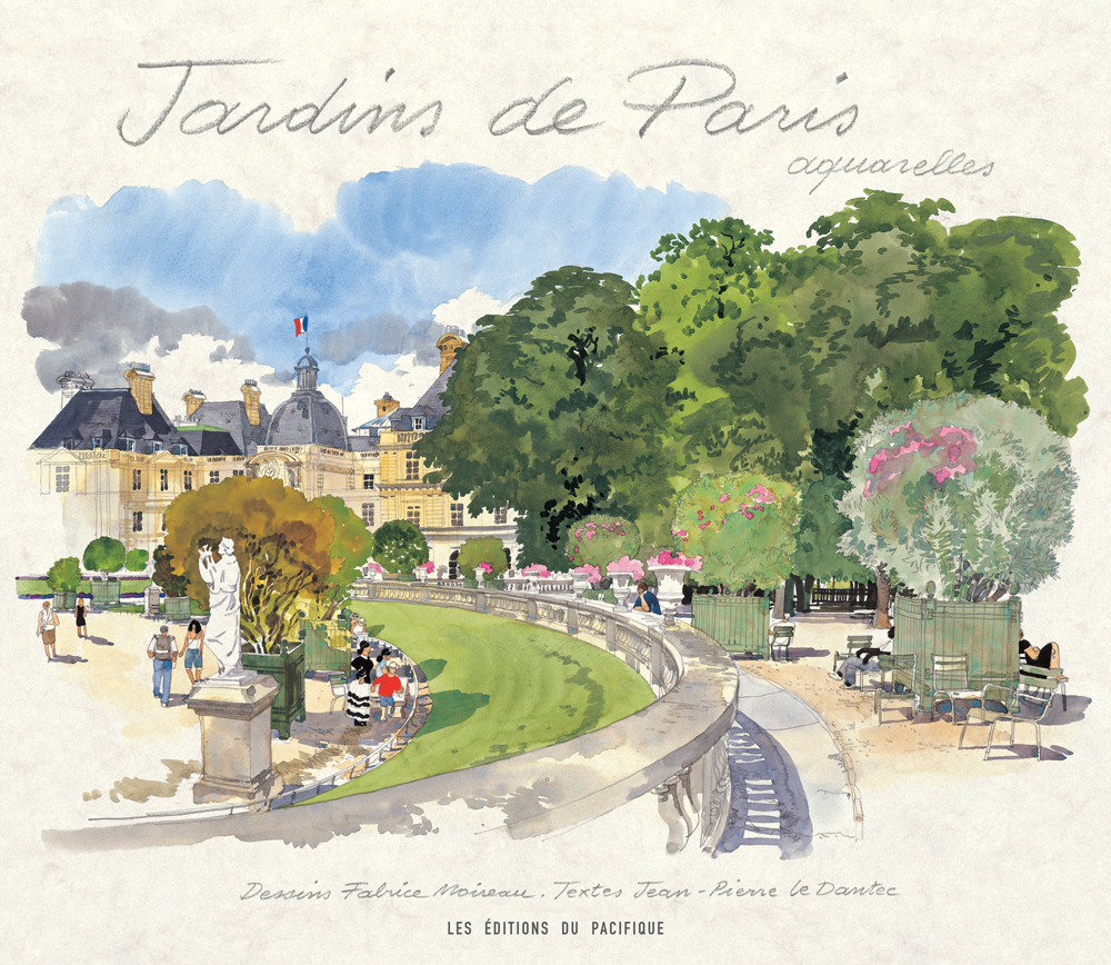 Jardins de Paris aquarelles