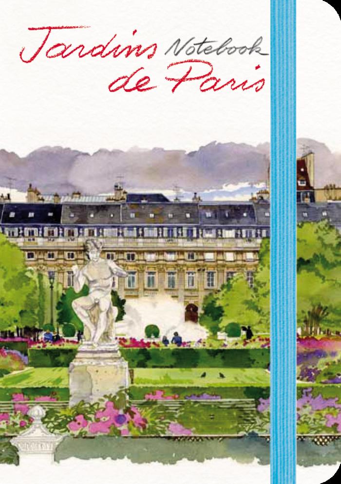 couverture de Jardins de Paris Notebook