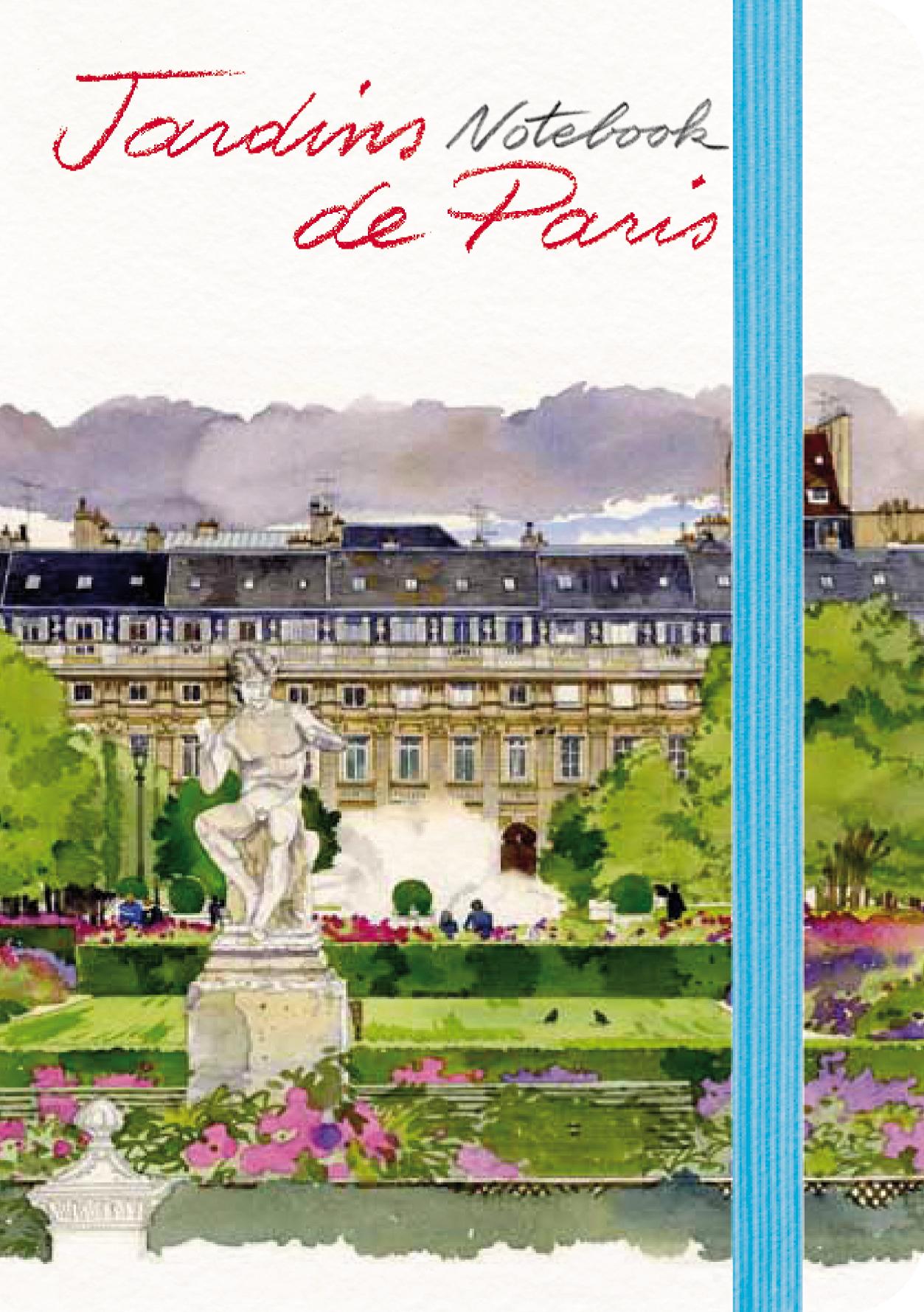 Notebook Jardins de Paris, Fabrice Moireau