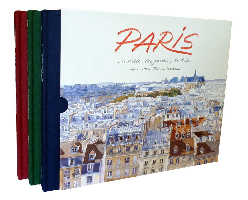Coffret Paris aquarelles, Fabrice Moireau