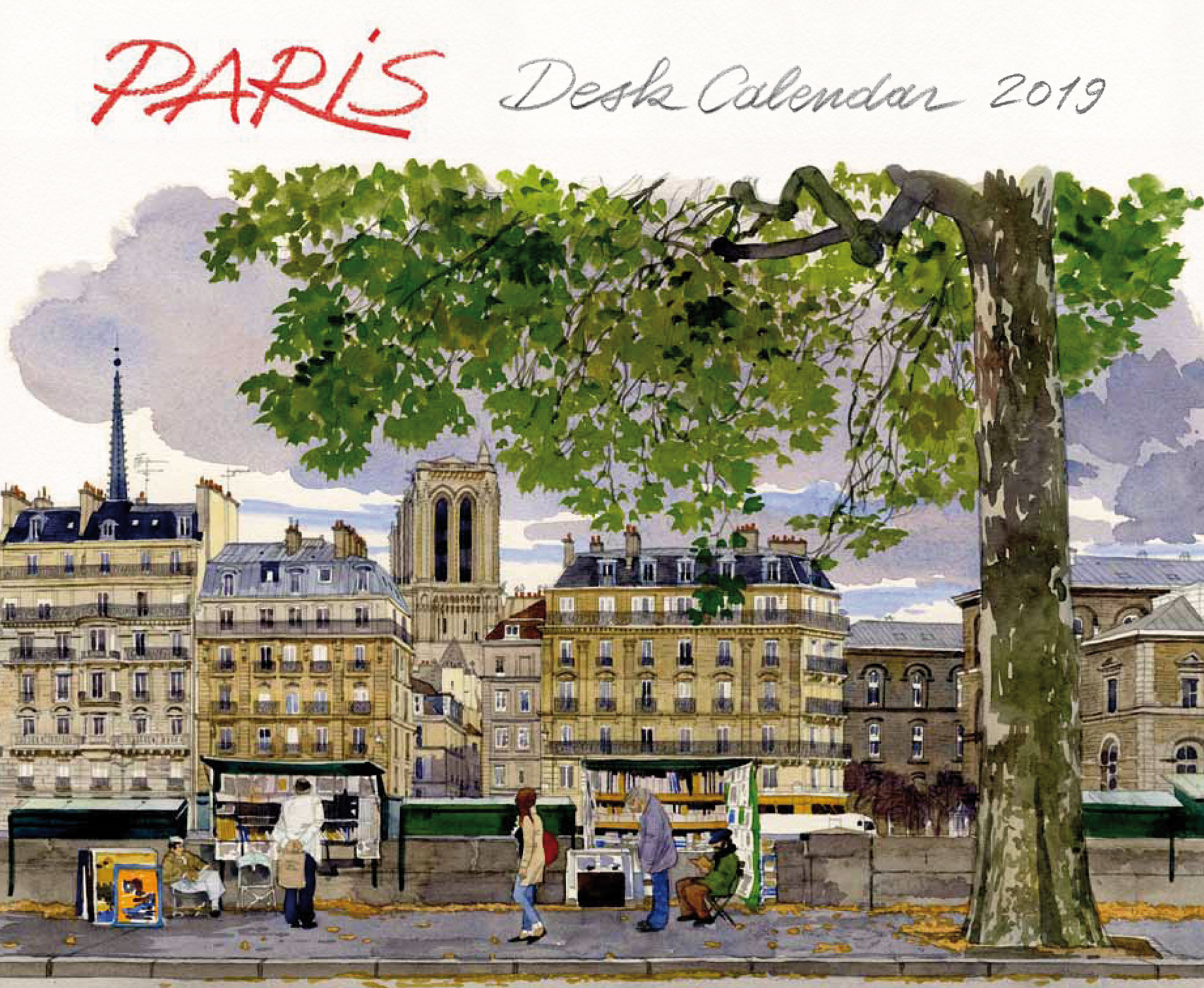 Semainier Paris aquarelles 2019