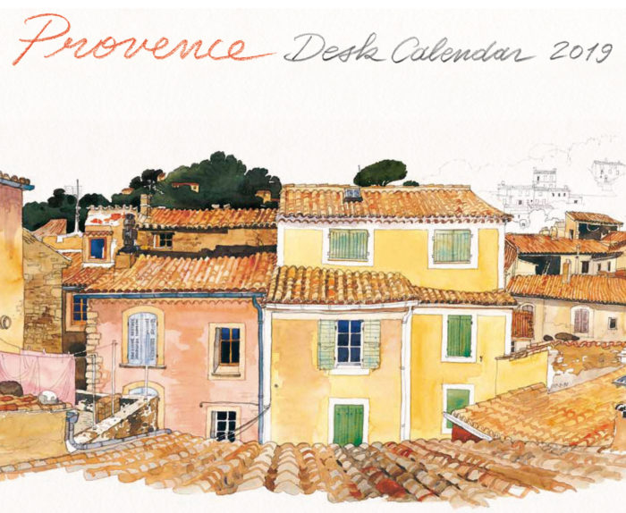 couverture de Provence Desk Calendar 2019