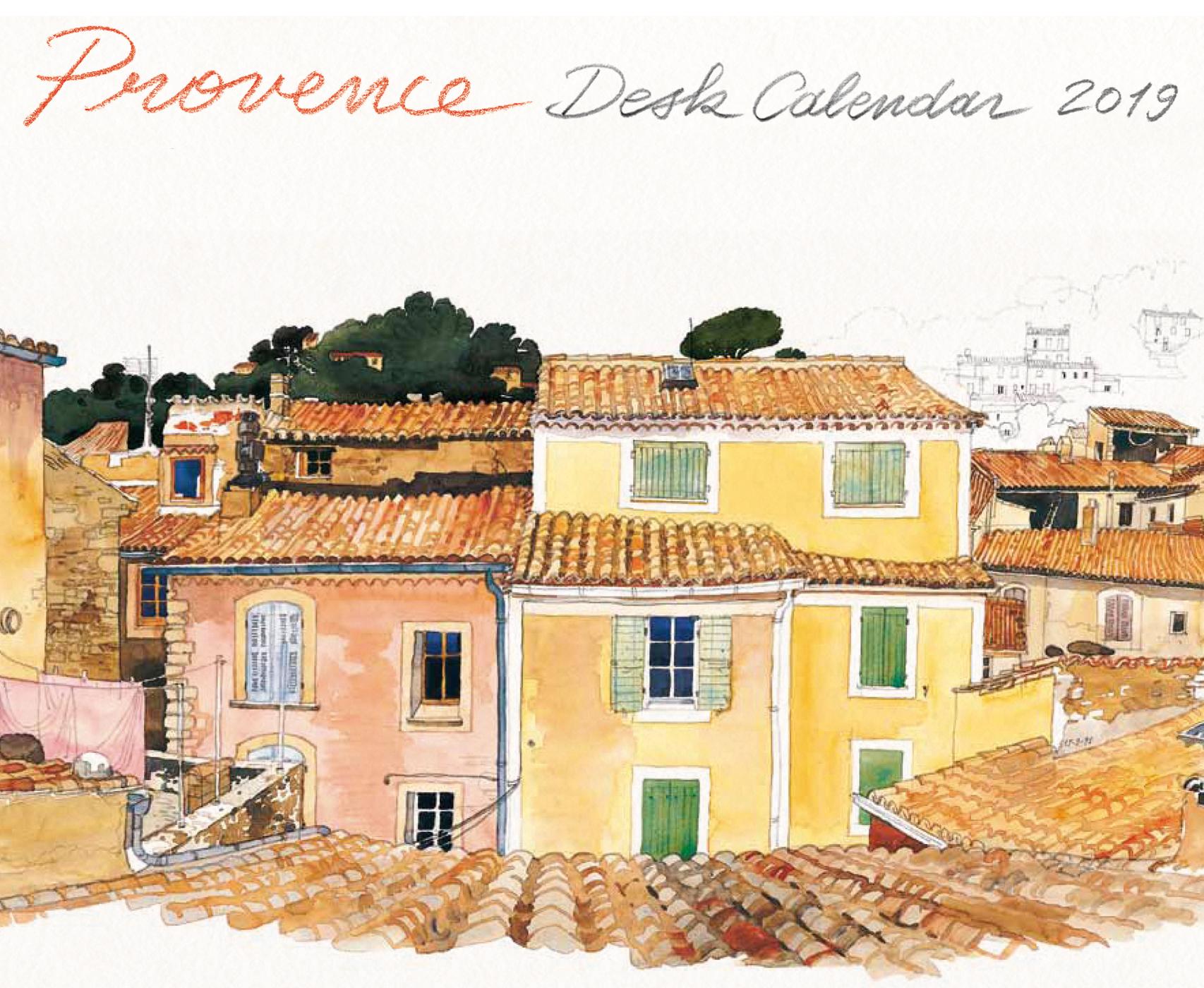 Provence Desk Calendar 2019