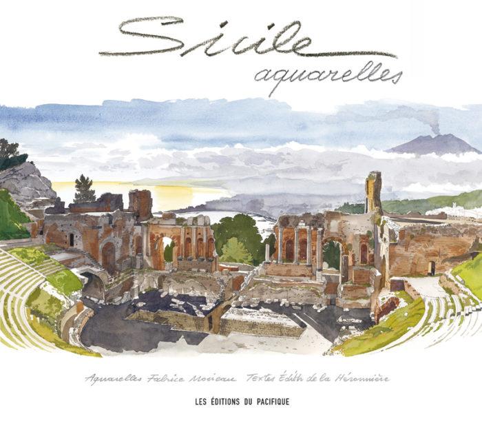 couverture de Sicile aquarelles
