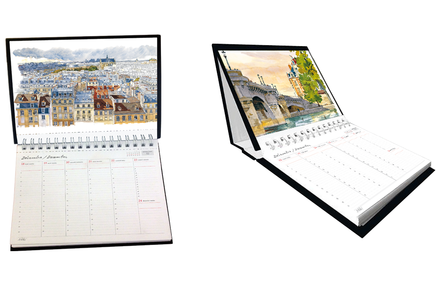 Paris Desk Calendar 2018