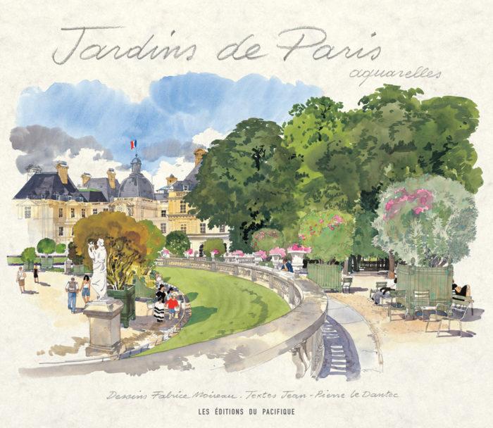 couverture de Jardins de Paris aquarelles