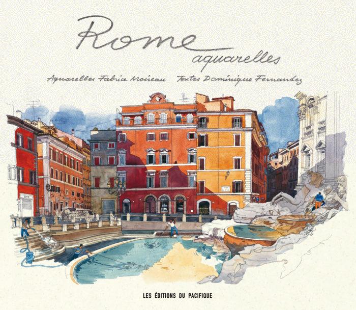 couverture de Rome aquarelles