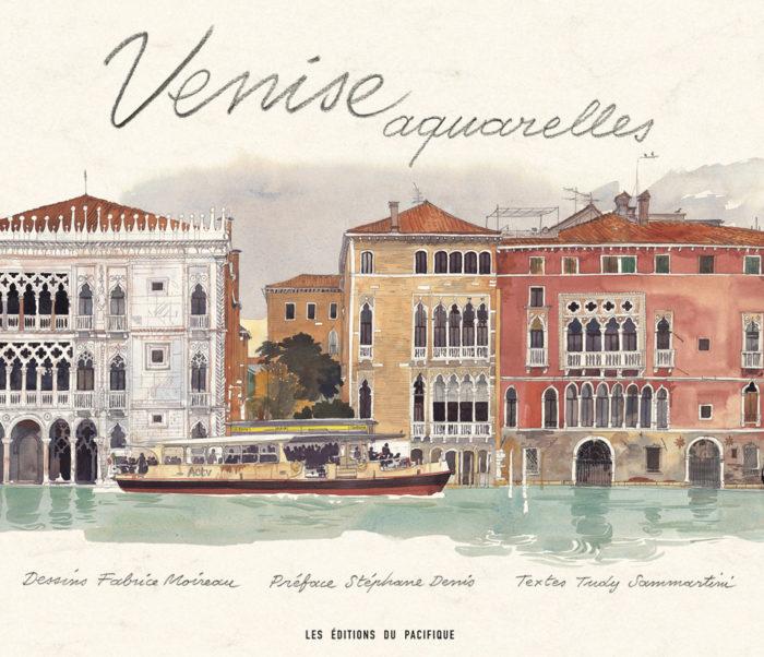 couverture de Venise aquarelles